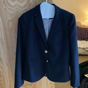 NWOT J. Crew navy wool blazer, with pockets